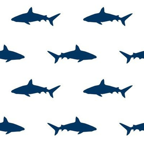 navy shark fabric - navy blue boys nursery baby