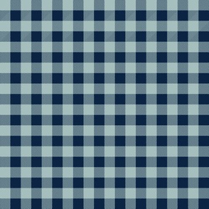 blue buffalo check - navy and blue design