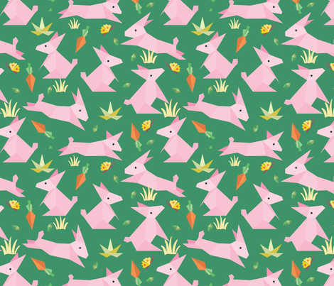 origami-rabbit  fabric by gkumardesign on Spoonflower - custom fabric