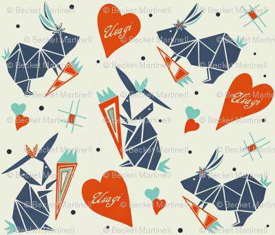 Origami Usagi Valentine sewindigo