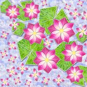 Origami_lotus_with_pads_fq_on_blue_2_shop_thumb