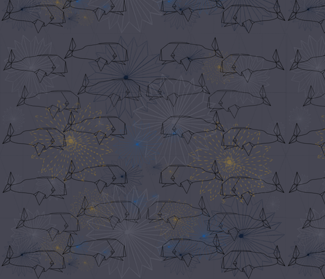 Whale Origami fabric by dainty_apples on Spoonflower - custom fabric