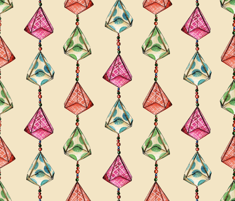 origamiLV fabric by letiziavalli on Spoonflower - custom fabric