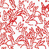 Bunnies small cherry red