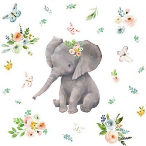 "8"" Spring Time Baby Elephant"