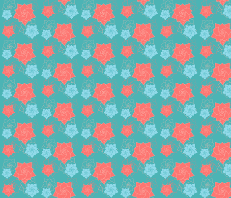 Origami Flower fabric by magnoliaheatherart on Spoonflower - custom fabric