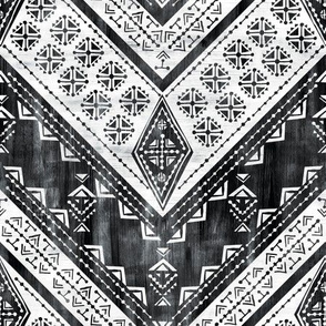 Jirra chevron Black _ White