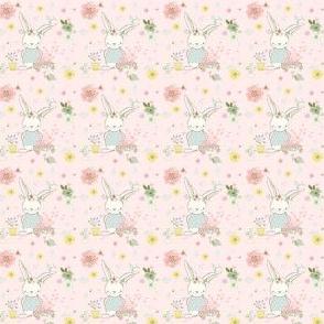 """1.5"""" Garden Bunny / Pink"""