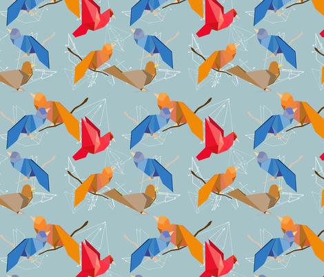Origami Birds 4* fabric by ej_molnar on Spoonflower - custom fabric