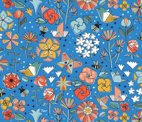 Paper Garden at Nightfall fabric by christinewitte on Spoonflower - custom fabric