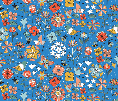 Paper Garden at Nightfall fabric by studio_amelie on Spoonflower - custom fabric
