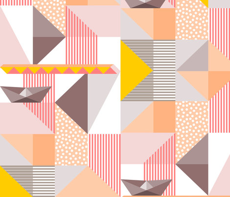 In an Origami World fabric by mrshervi on Spoonflower - custom fabric