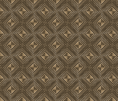 Origami in Sepia Small fabric by qideaz on Spoonflower - custom fabric