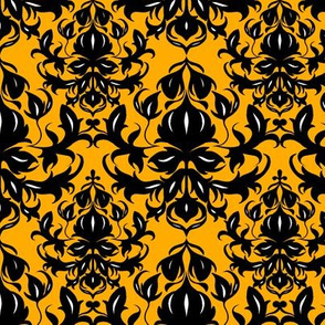 Hgh Contrast Yellow Damask