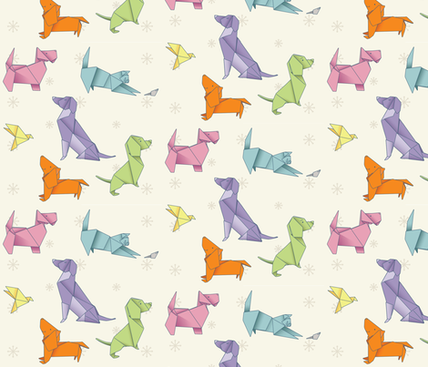 Origami Pets fabric by cindydaystudio on Spoonflower - custom fabric