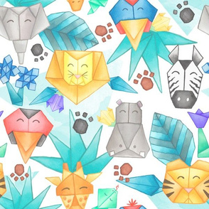 Origami Jungle Pals