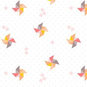 pinwheel origami polka