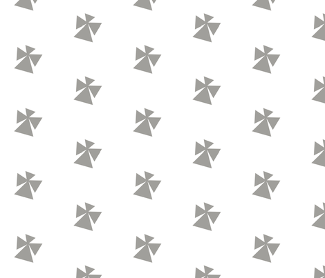 Origami Kimono Snow Angel fabric by blueeyeddesign on Spoonflower - custom fabric