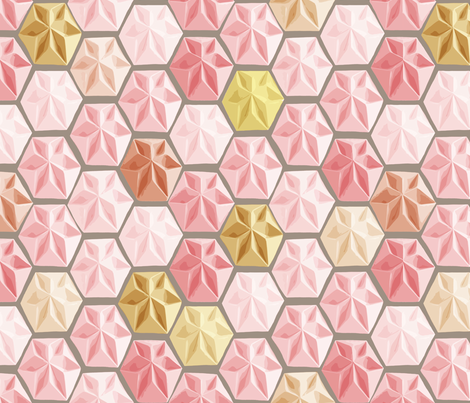 Origami (Pastel Pinks)  fabric by pattyryboltdesigns on Spoonflower - custom fabric