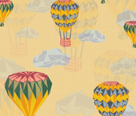 Origami adventure awaits! fabric by nikitaceedesigns on Spoonflower - custom fabric