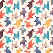 Origami-birds