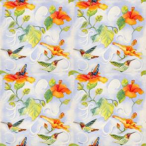 Hummingbirds with Hibiscus rev 2