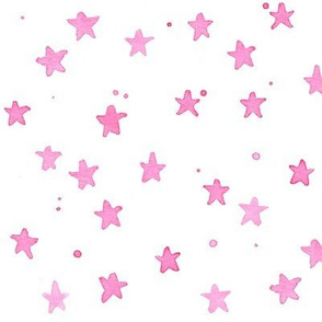pink watercolor stars