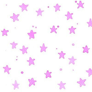 purple watercolor stars
