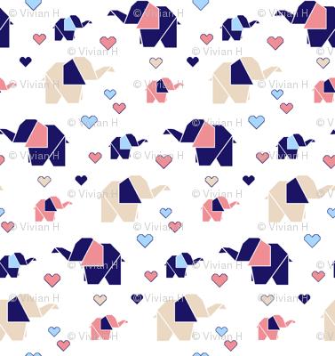 origami elephants and hearts_origami elephants and hearts