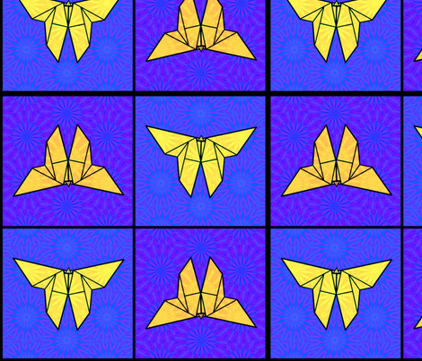 Origami Butterflies in Flight fabric by dovetail_designs on Spoonflower - custom fabric