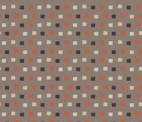 Tiny Pattern Squares Neutral Dark fabric by mhdesign on Spoonflower - custom fabric