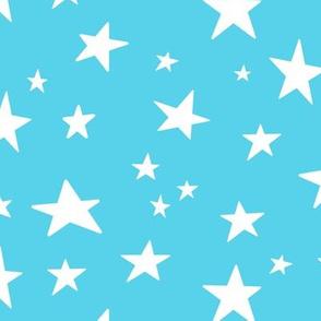 stars on blue - blue rainbow coordinate