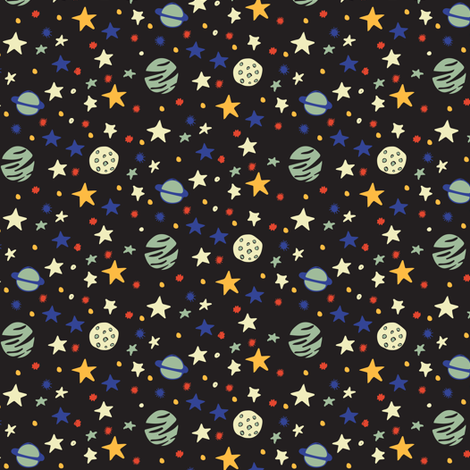 Outer space small fabric jacquelinehurd spoonflower for Outer space material