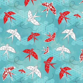 Origami Swallows