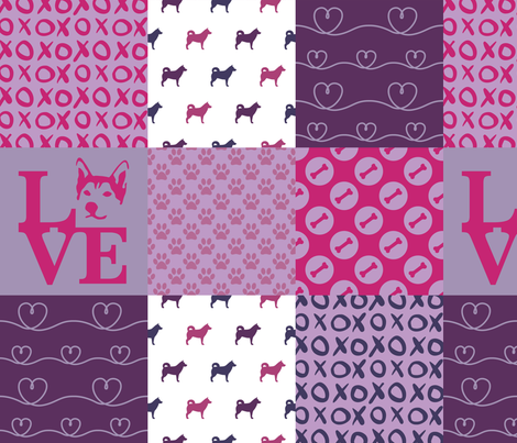 Cheater Quilt Husky Violet fabric by mariafaithgarcia on Spoonflower - custom fabric