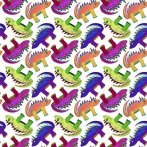 Dinosaurs (Purple Blue Green Orange)