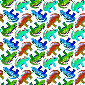 Dinosaurs (Blue Red & Green)