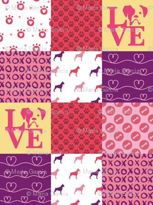 Cheater Quilt Boxer Pink
