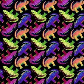 Dino Girls - Black and Purple
