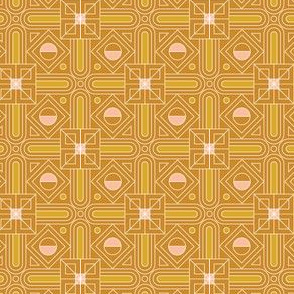 Empire* (Gold Seal) || Art Deco geometric circles squares triangles mustard