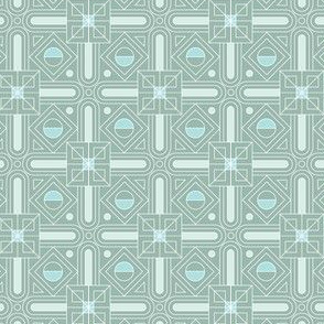 Empire* (Camouflage) || Art Deco geometric circles squares triangle pastel