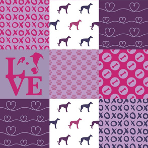Cheater Quilt Greyhound Violet