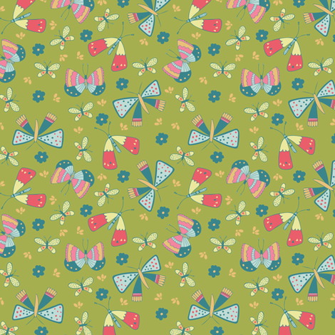 Butterfly Field SMALL fabric by jacquelinehurd on Spoonflower - custom fabric