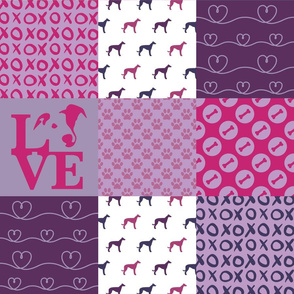 Cheater Quilt Whippet Violet