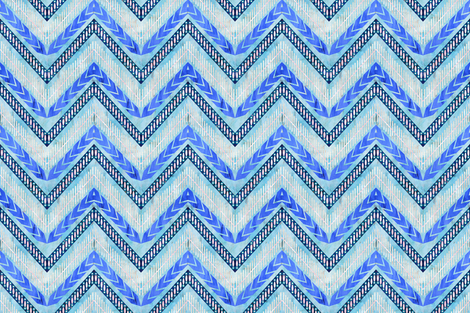 Shelbychevron_tribal_blue fabric by schatzibrown on Spoonflower - custom fabric