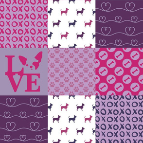 Cheater Quilt Chihuahua Violet