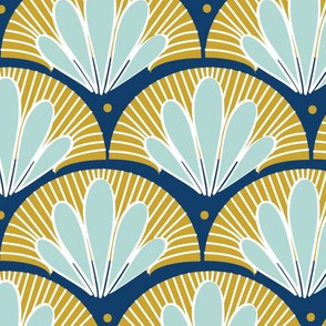 Blue and Gold Art Deco