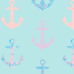 Marble Anchor (Blue)