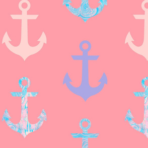 Marble Anchor (Coral)