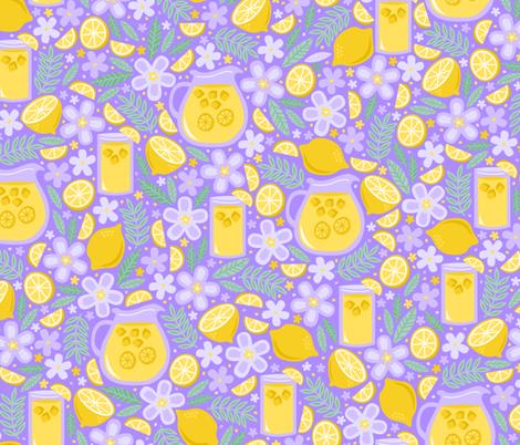 Afternoon Lavender Lemonade fabric by robyriker on Spoonflower - custom fabric